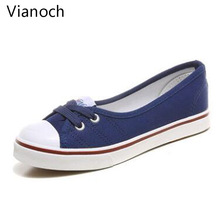 Fashion New Women Flats Spring Summer Autumn Casual Shoes Breathable Student wo19038