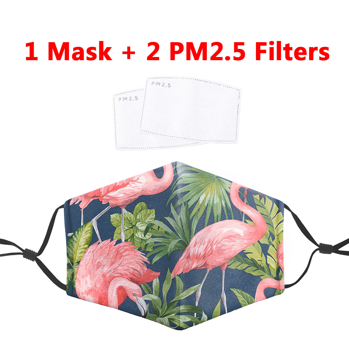 Flamingo Animal Face Mask Printing Mouth Masks Reusable Protective PM 2.5 Filter Anti Dust Face Mask Proof Flu Mask Dropshipping