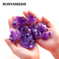1pcs Exquisite Natural Amethyst Crystal Cluster Raw Healing Stone Decoration Ornament Purple Crystal quartz Ore Mineral