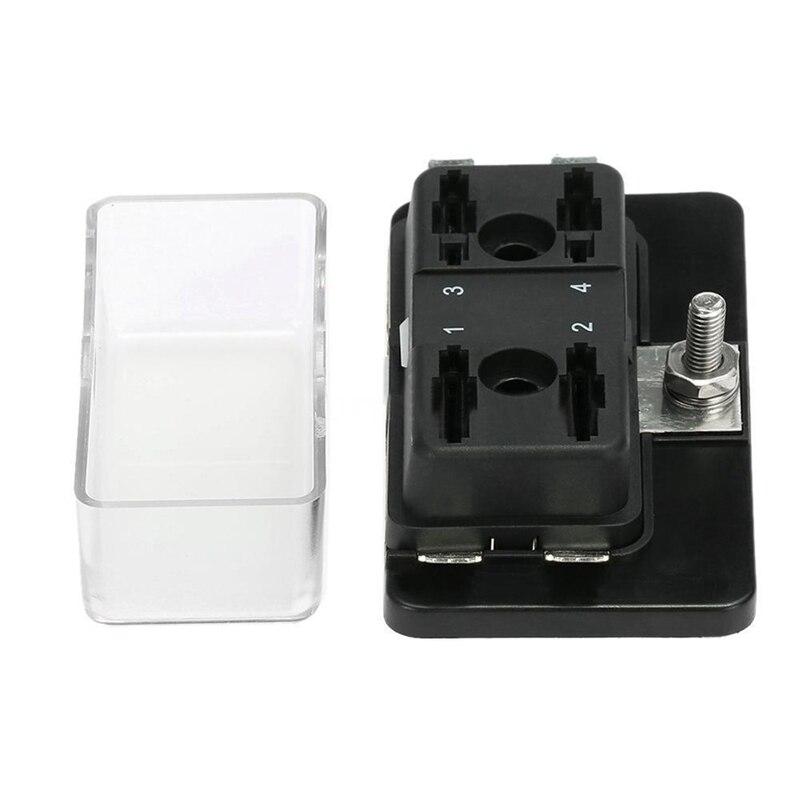 4 Way Blade Fuse Holder Box LED Indicator Automotive Fuse Block Box Block 6V-32V