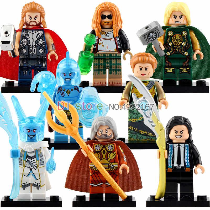 Single Sale Super Heroes Action Figures Thor Loki Odin Laufey Frigga Set Model Building Blocks Bricks For Kids Gift Toys X0269