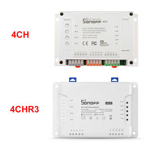 Image 2 - Sonoff 4CH 10A/Gang Wifi Smart Switch 4 Gang Four Channel Remote Wifi Light Switch Control 4 Devices Work with Alexa Google Home