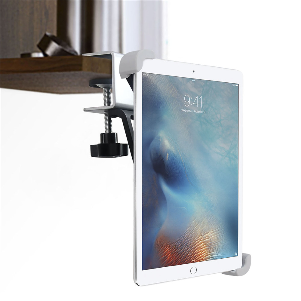 Kitchen Tablet Stand Holder For Desktop Metal Clamp 360 Rotation For IPad Samsung Xiaomi Huawei Lenovo 7-10.5'' Tablet Mount