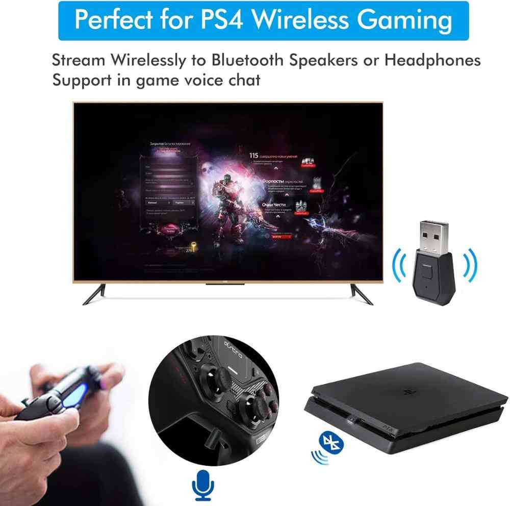 PS4 Bluetooth Adapter-Mini USB 4.0 Bluetooth Adapter/Dongle Penerima dan Pemancar, Kompatibel dengan PS4 PlayStation