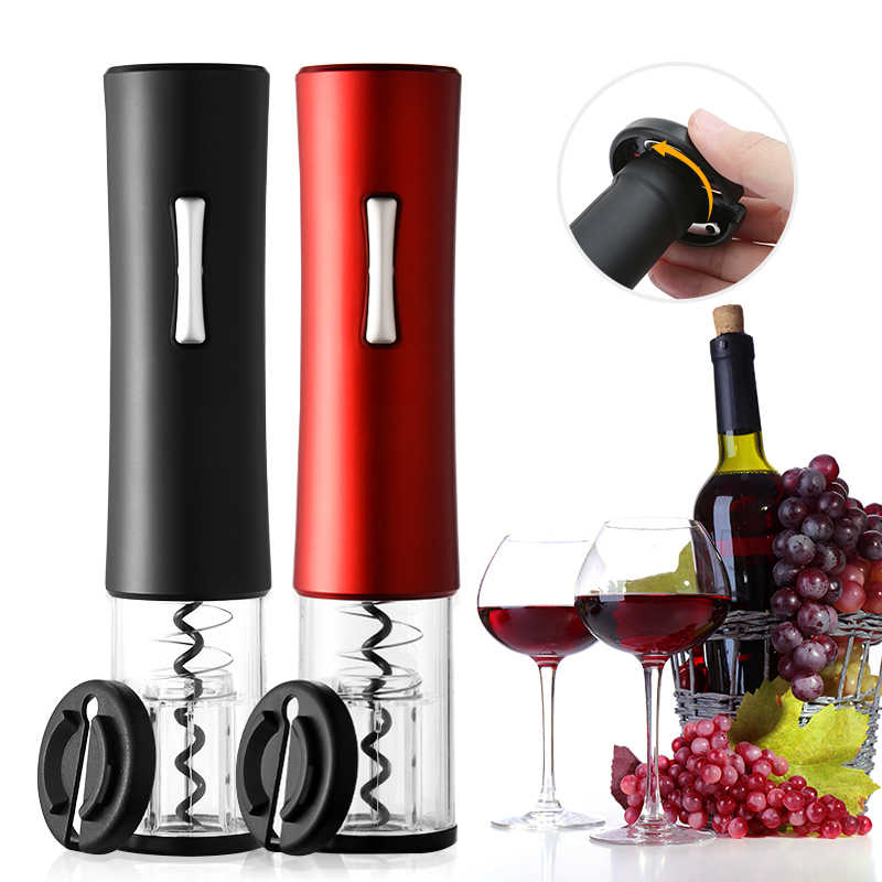 Electric Automatic Wine Bottle Opener w//Foil Cutter Rechargeable Corkscrew New