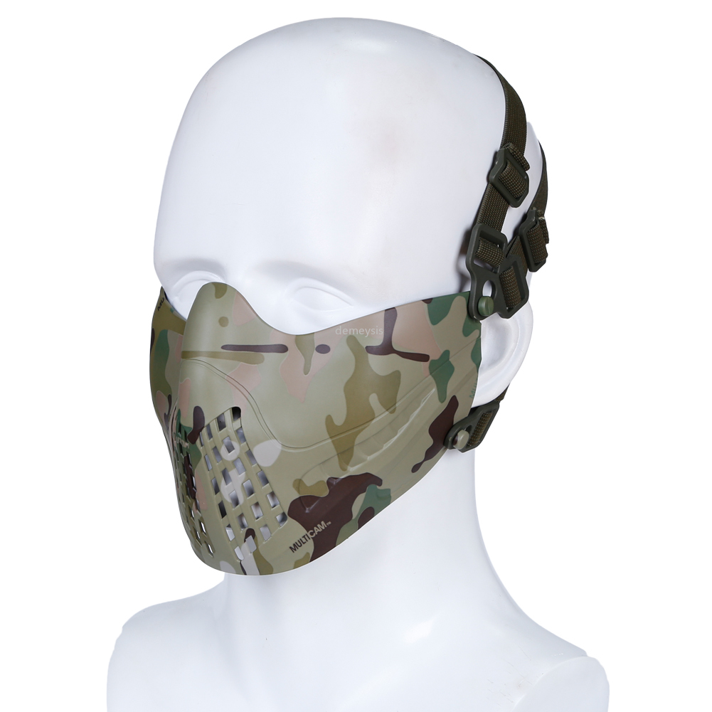 Outdoor Paintball Mask Half Face Military Tactical Hunting Airsoft Mask Breathable Protective Shooting Combat Cs Cycling Masks