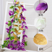 YOOAP 190CM Long Artifical Decoration Wedding Parties Artificial Fake Hanging Vine Plant Leaves Garland Home Garden