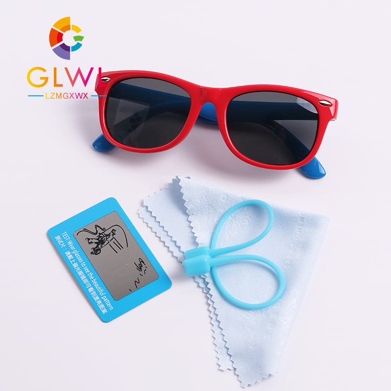 Sunglasses Boys Girls Baby New Polarized Sun Glasses Kids Flexible Frame Eyewear Children Black Mirror Child Sports Travel Gift