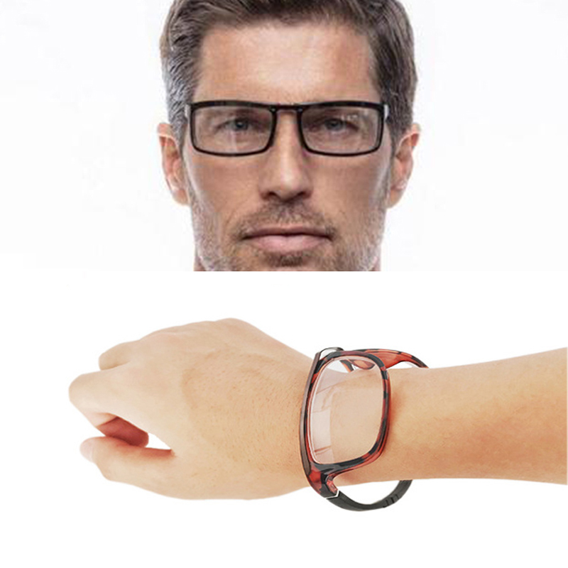 Высокое качество, складывающиеся очки для чтения на запястье, наручные часы, очки, магнит, висячая шея для переноски, Пресбиопия, очки 1,5, 2,5