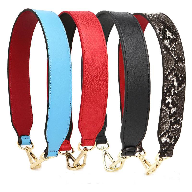 Female Handles Shoulder Bag Strap 54cm PU Leather Bag Strap Snake Straps Belt Accessories Leopard Shoulder Bags Belt Replacement