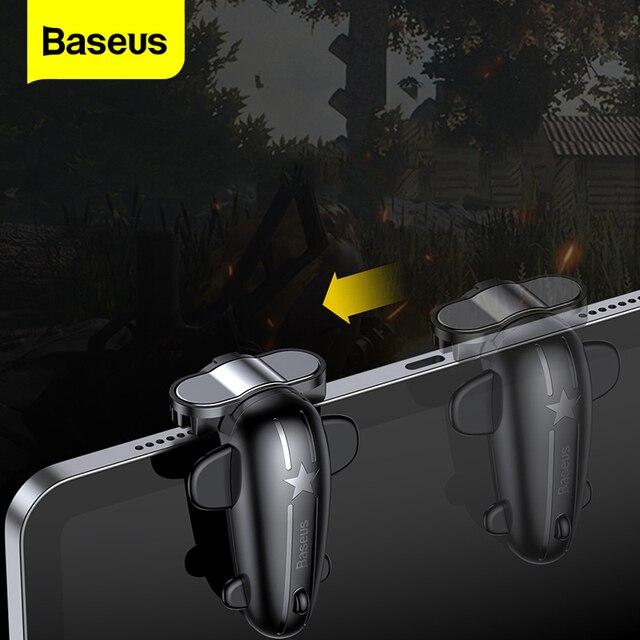 Baseus 2PC sterowanie wyzwalaczem gier dla PUBG gry Shooter przycisk ognia strzelanie gra Joystick dla iPad Pro Xiaomi Huawei tablety