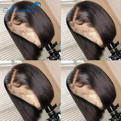 Bob Lace Front Wigs 13x4 Bob Wig Lace Frontal Wig Straight Human Hair Wig Pre Plucked Bleached Knots Wigs 150 Remy Closure Wig