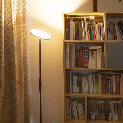 moderno conduziu a lampada de assoalho ajustavel escurecimento luz do assoalho iluminacao quarto sala estar
