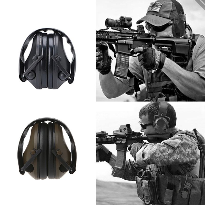 Anti-noise Electronic Ear Muffs Protection Shooting Hunting Sport Tactical