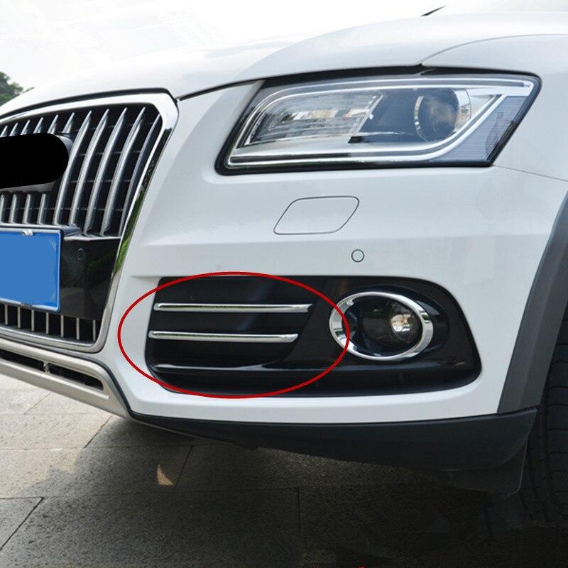 CNORICARC-lámpara antiniebla delantera para Audi Q5, cromada, accesorios exteriores, tira embellecedora de lentejuelas