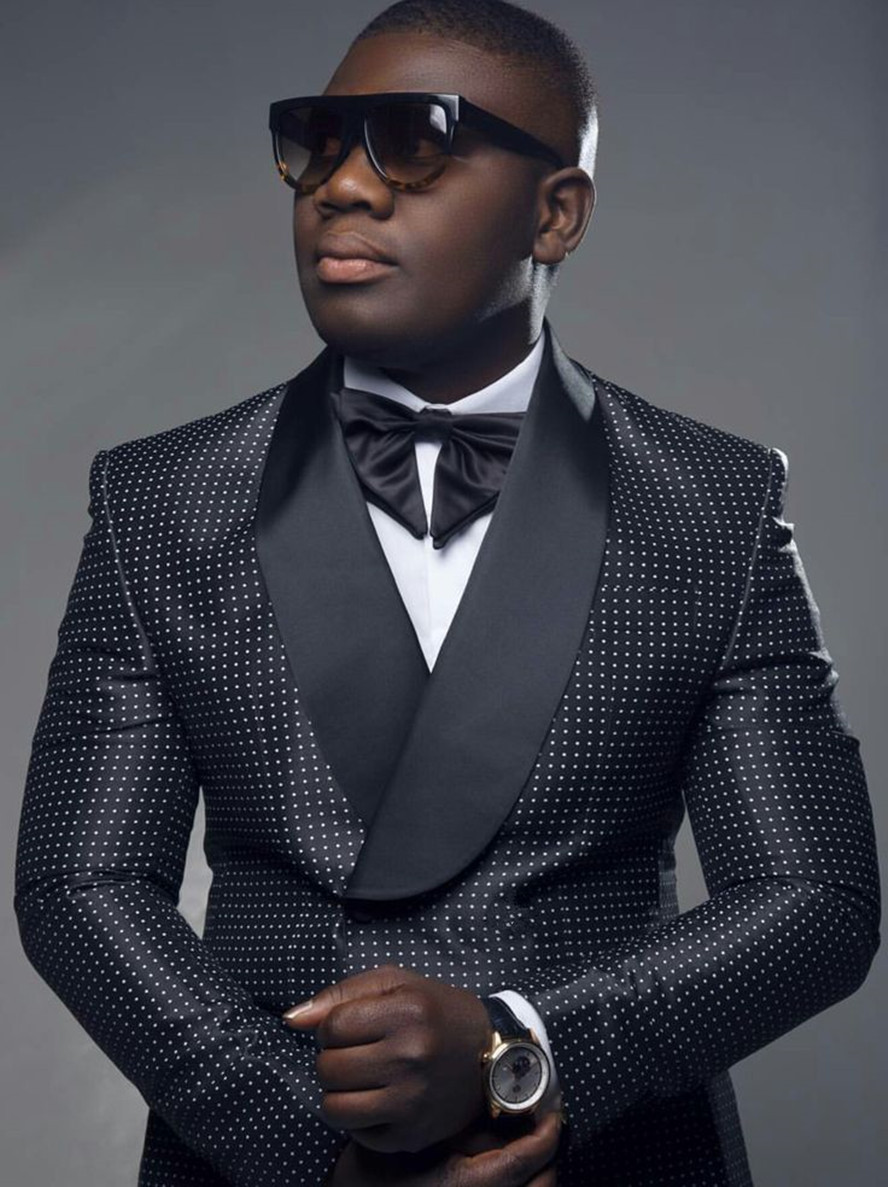 New Fashionable Groom Tuxedos Groomsmen Black Polka Dot Shawl Lapel Best Man Suit Wedding Men's Blazer Suits (Jacket+Tie)  05