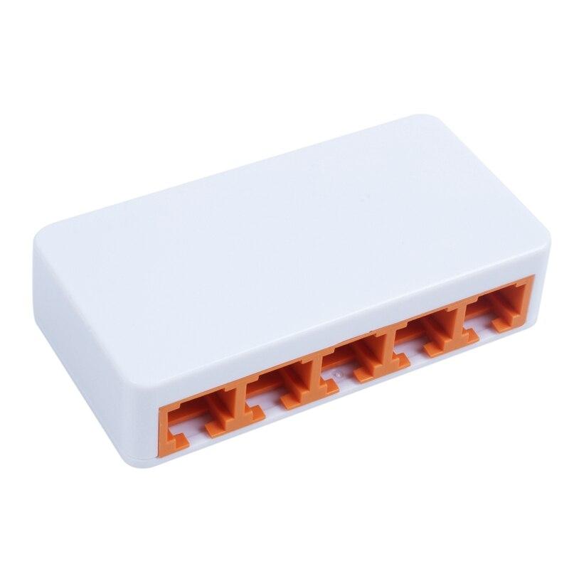 DIEWU 5 Ports Fast Ethernet RJ45 10/100Mbps Network Switch Switcher Hub Desktop Laptop,Portable Travel Lan Hub Power By Micro-US