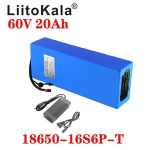 Аккумулятор для велосипеда LiitoKala, 60 В, 20 А · ч, 18650, 16S6P, литий-ионный аккумулятор для электрического велосипеда, аккумулятор для электрическог...