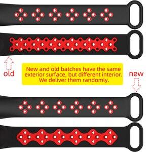 Image 5 - Ремешок Mijobs для Xiaomi Mi Band 4 и 3, силиконовый спортивный смарт ремешок для Mi Band 4, аксессуар для браслета