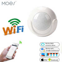 WIFI PIR Motion Sensor Smart Human Detector For Home Security System, Optional Automatic Alerts,Work With Echo Google Home