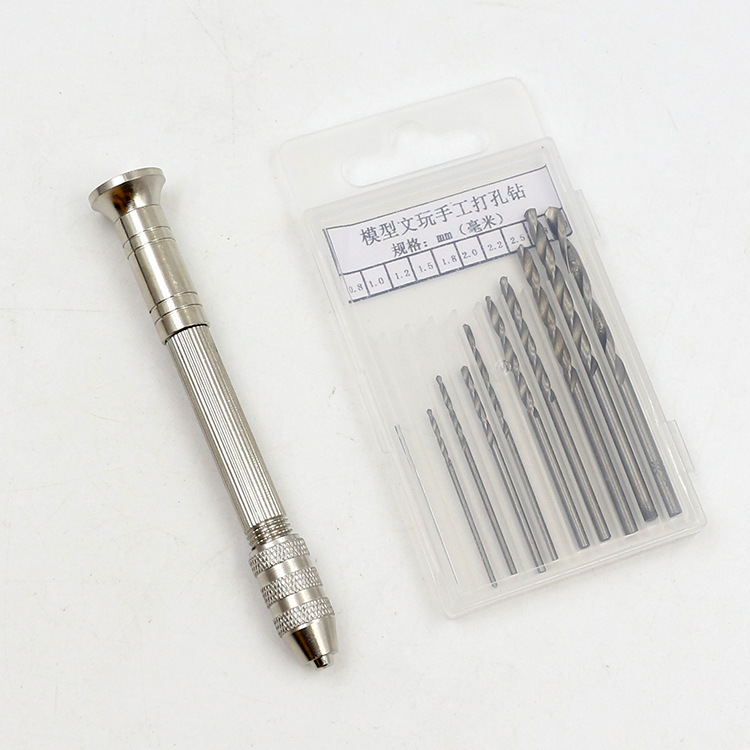 QIAO QIAO DIY Unisex Metal Tool New Product Miniature Model Gundam Drilling Hand Drill Set Hobby Cutting Tools Accessory