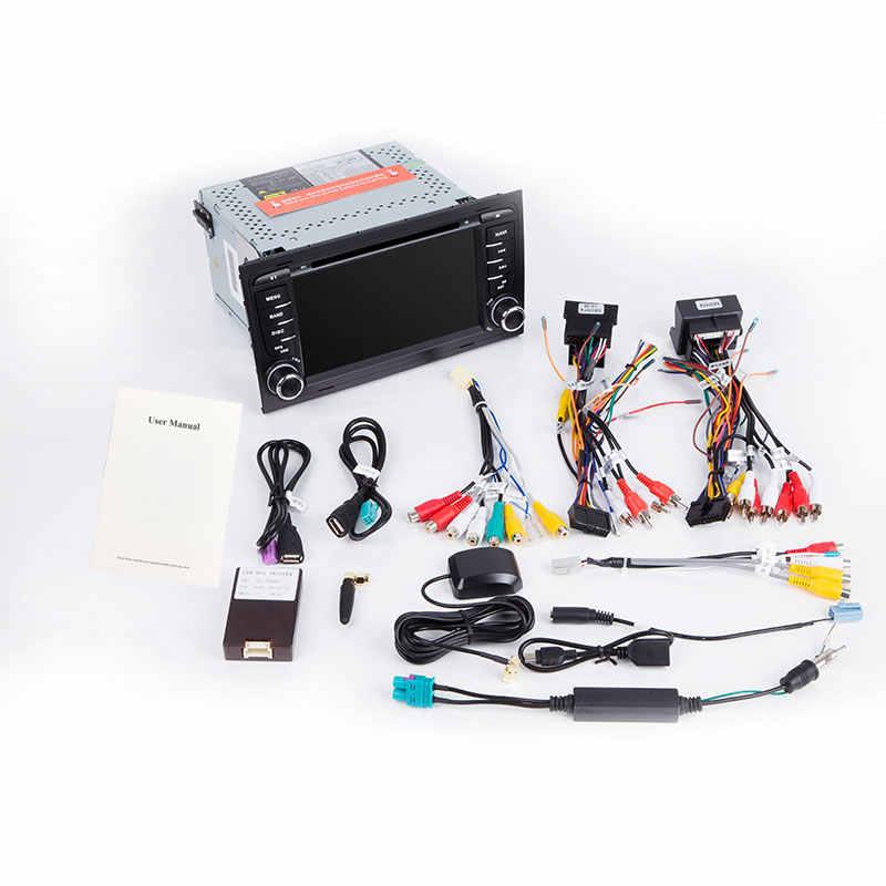 2 din Auto Radio Lettore Multimediale Per Audi A4 B6 B7 S4 B7 B6 RS4 B7 SEAT Exeo 2002-2008 GPS unità di testa di Navigazione DVD stereoAudio