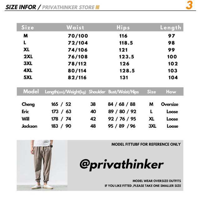 Privathinker Cotton Linen Casual Harem Pants Men Joggers Man Summer Trousers Male Chinese Style Baggy Pants 2020 Harajuku Clothe 5