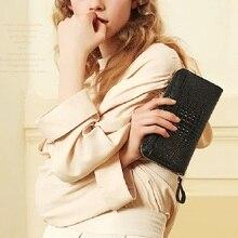 ZOOLER portefeuille en cuir véritable pour femmes, marque de luxe, Long Vintage, pochette, pratique, pochette à motifs, porte monnaie, carte, sac à monnaie