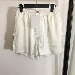 Sommer Neue Brief Stickerei Elastische Taille Lose Spitze Seite Shorts Hot Pants für Frauen A2