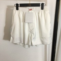 Summer New Letter Embroidery Elastic Waist Loose Lace Side Shorts Hot Pants for Women A2