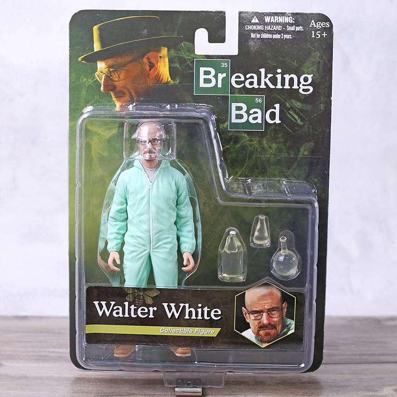Breaking Bad Heisenberg Walter White In Orange Hazmat Suit Collectible Figure Toy