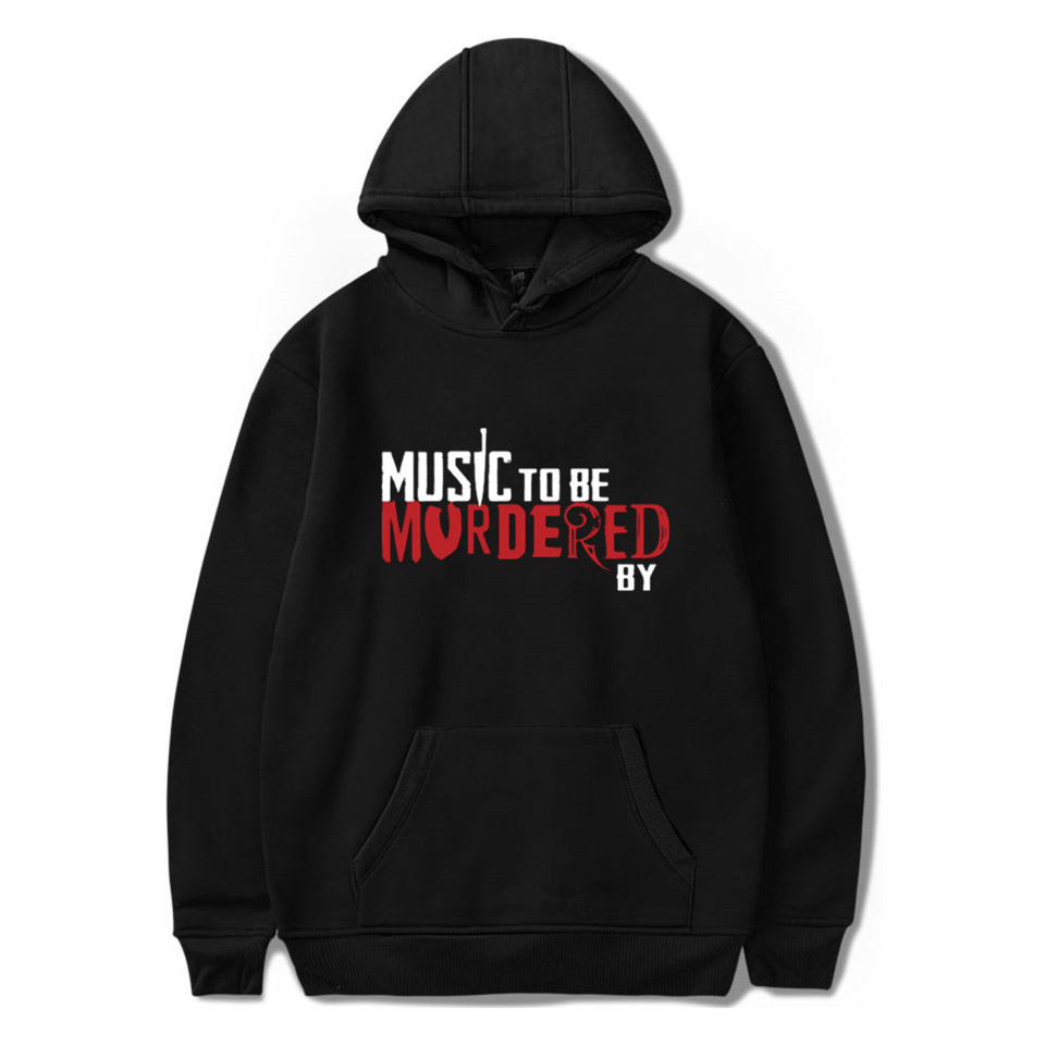 Music To Be Murdered By Eminem Album Logo Fashion Printing 2020 New Arrival Harajuku Casual Couple Plus Size Hooded Sweatshirt