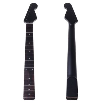 22 Frets New Replacement Maple Neck Rosewood Fretboard Fingerboard for Electric Guitar Musical Instrument Accessories stainless steel dual scale guitar neck notched straight edge luthiers tool measurement fretboard and frets