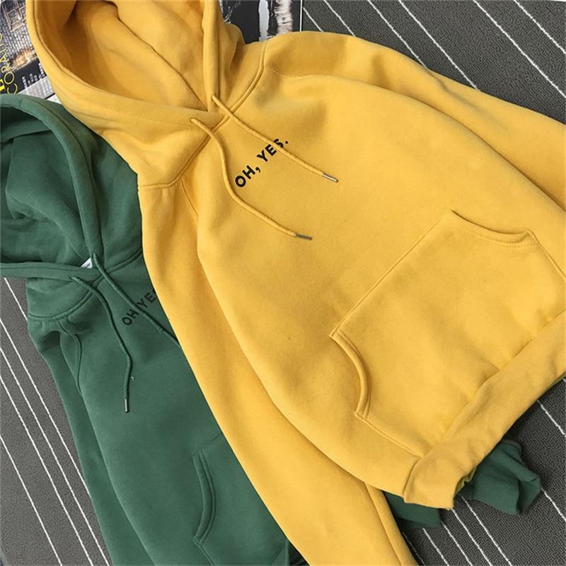 Oh yes Hoodies Sweatshirts 2020 Women Casual Kawaii Harajuku Fashion Punk for Girls Clothing European Tops Korean