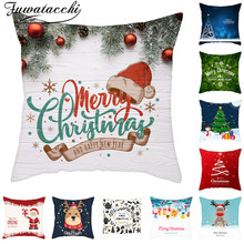 Fuwatacchi Warm Christmas Style Cushion Covers Romance Pillows Cover Polyester Pillowcase for Home Sofa Decorative 45*45