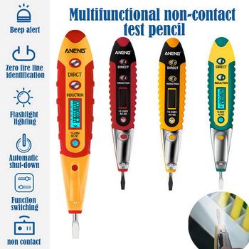 Cyfrowy długopis testowy cil AC DC 12-250V Tester elektryczny wyświetlacz LCD czujnik napięcia długopis testowy do elektronarzędzi tanie i dobre opinie DIDIHOU CN (pochodzenie) Elektryczne Tylko cyfrowy 143*36*18 7mm 5 63*1 42*0 74 DC12 36 55 V AC70~250V 1 X LCD Digital Display Voltage Test Pen