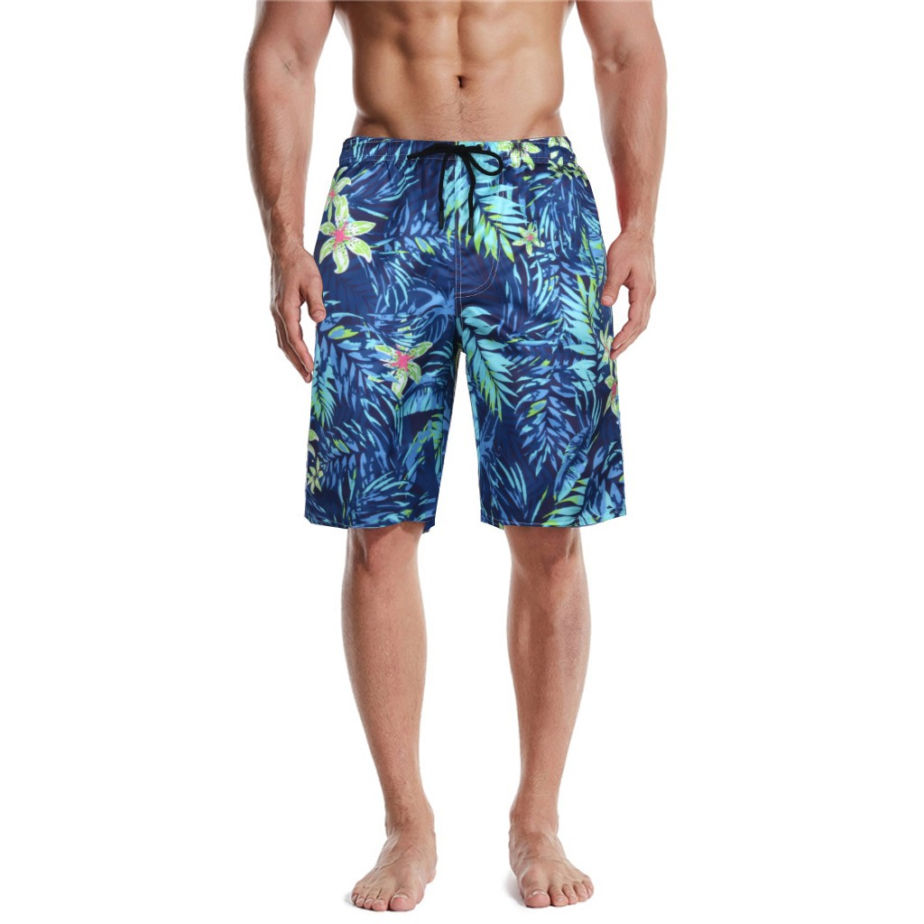 Mens Beach Swim Trunks Chinese Ancient Style Dragon Boxer Swimsuit Underwear Board Shorts with Pocket