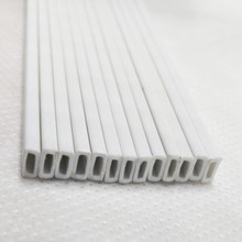 30 pieces of white rectangular 2*5mm abs plastic pipe for building model the customized of abs plastic moulds