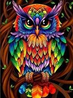 Colorful Owl Art En Iyi Fiyat