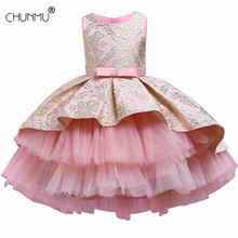 Flower Vintage Embroidery Baby Girls Dress Opening Ceremony Clothing Tutu Party Elegant Wear Girls Princess Dress Kids Vestidos cheap CHUNMU Cotton Acetate 13-24m 25-36m 4-6y 7-12y CN(Origin) Four Seasons Knee-Length O-neck Regular Sleeveless Casual Fits true to size take your normal size