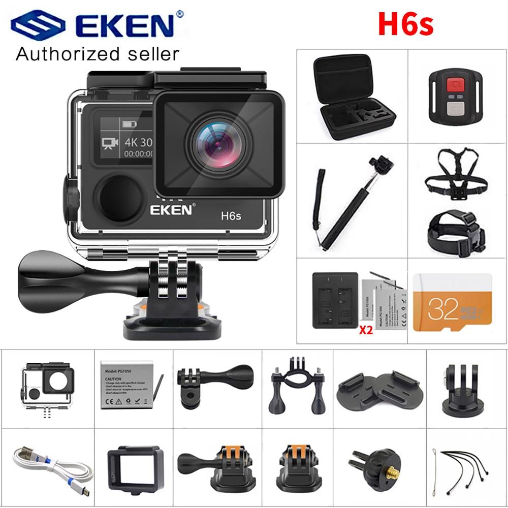 EKEN H6S Action Camera Ultra HD Ambarella A12 chip 4k 30fps 1080p 60fps EIS 30M waterproof