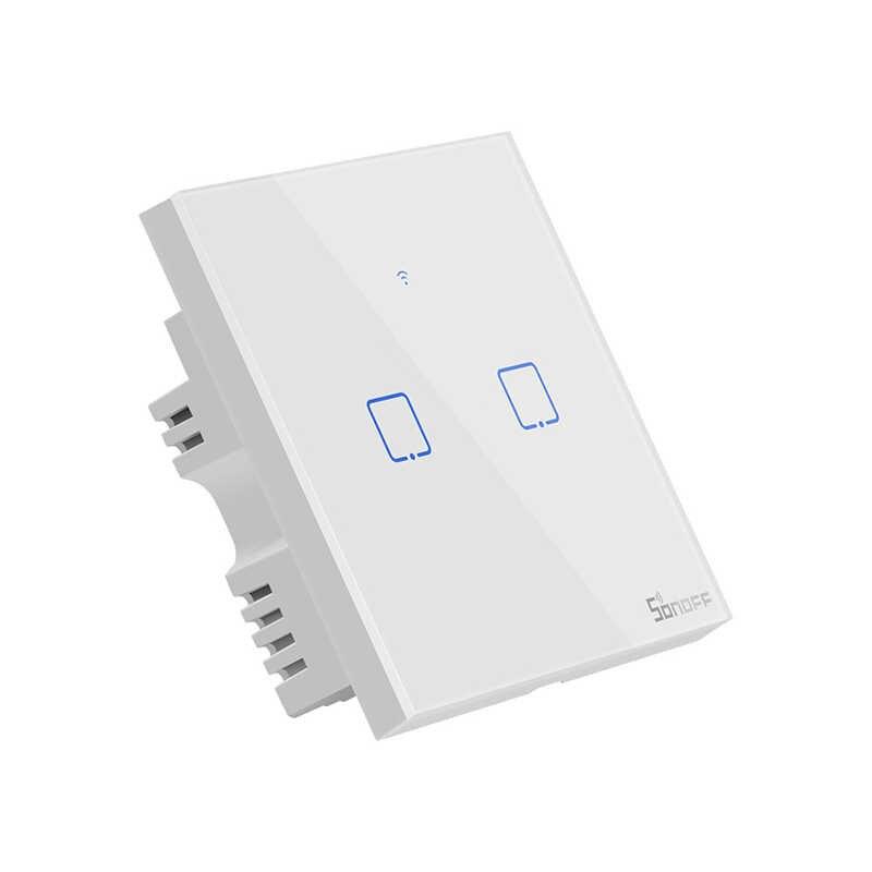 SONOFF T1EU2C-TX Nhà Thông Minh 2 Băng Đảng Phát WiFi Alexa Thoại Điều Khiển Nhà Tự Động Hóa Công Tắc Với Google Nhà EWeLink IFTTT