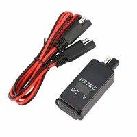 Dual USB Port 4.2A Spannung Display Motorrad Ladegerät Power Adapter LED Voltmeter SAE Lade Adapter für Auto Motor Universal-in Motorrad-Elektronik Zubehör aus Kraftfahrzeuge und Motorräder bei