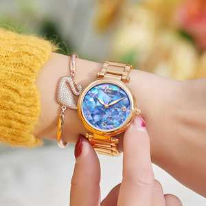 Mechanical Watches Tiger/rt New-Design Feminino Rose-Gold Brand Blue Relogio Dial RGA1854
