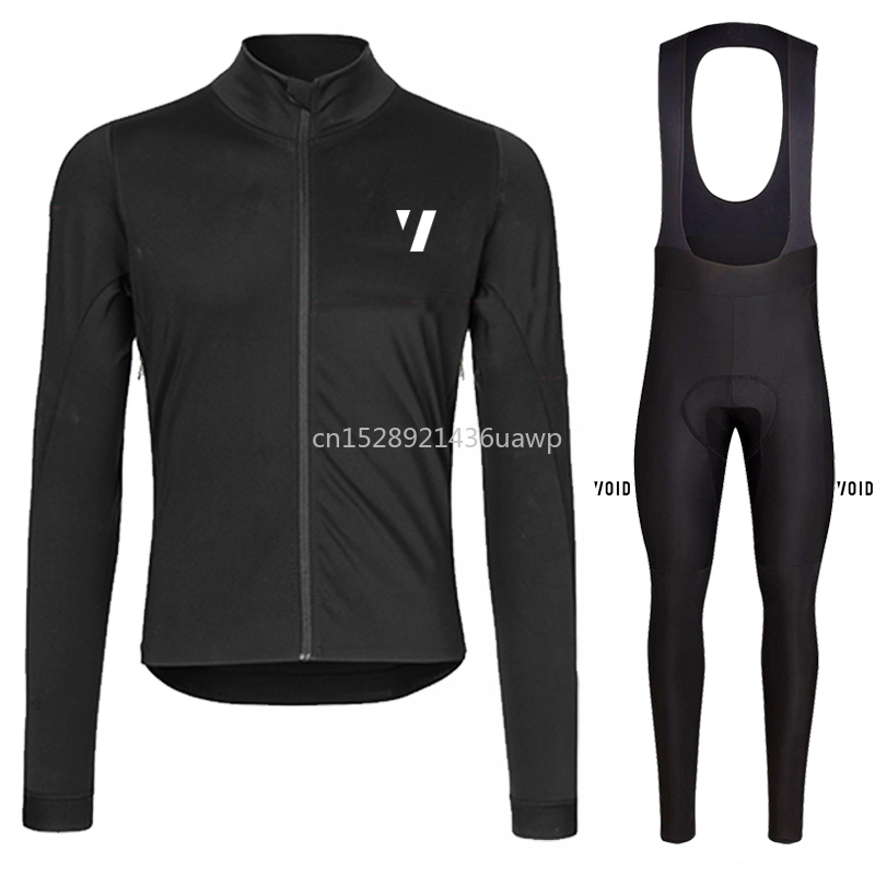 2019 winter thermal fleece long sleeve set Underarm professional ventilation design bicicleta mtb Pro team ropa hombre de marca
