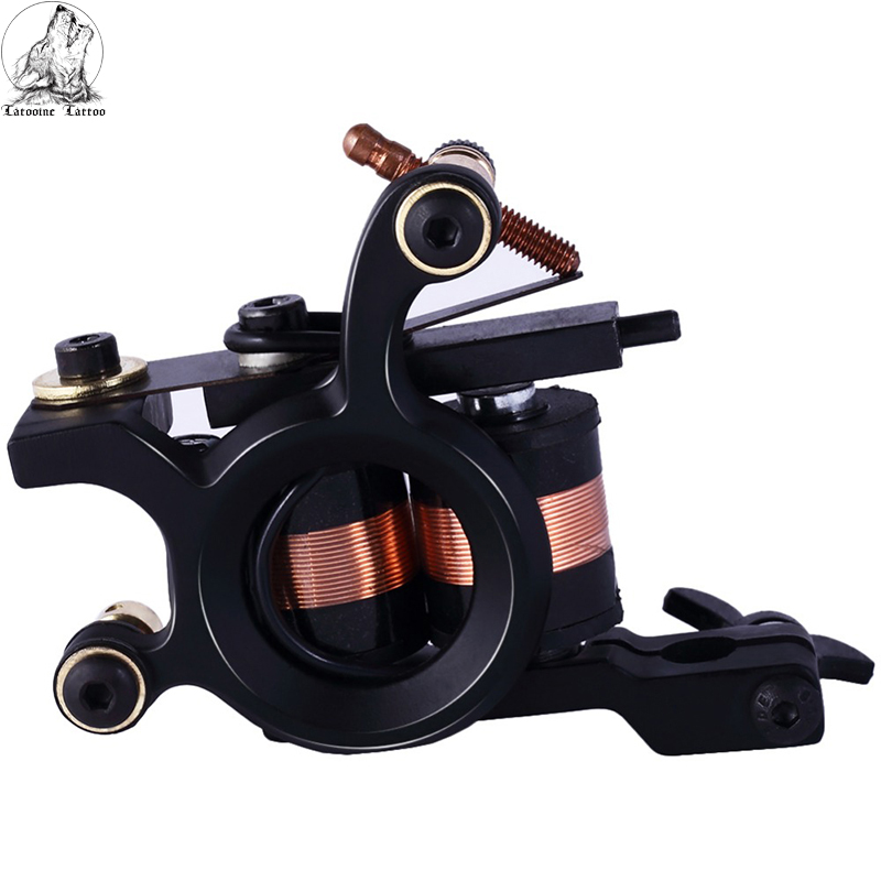 High Quality Coil Tattoo Machine 10 Warp Coil Light Weight Tattoo Guns For Shader&Liner Coloring Lining Tattoo Machines Beginner