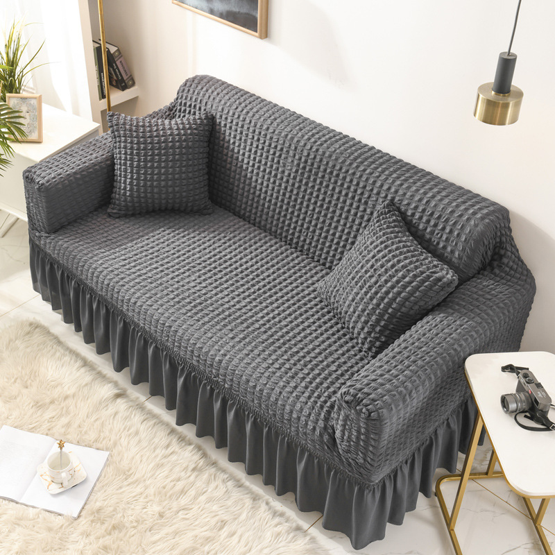 Купить одноцветный эластичный чехол для дивана гостиной с принтом в