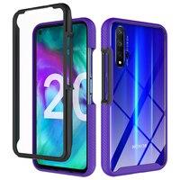 2 en 1 de parachoques de la caja del teléfono para Huawei Honor P30 P40 Lite 20 9X Nova 5T P Smart Z 2020 4G E Y6 Y7 Y7P Y9 primer 2019 armadura cubierta de la PC