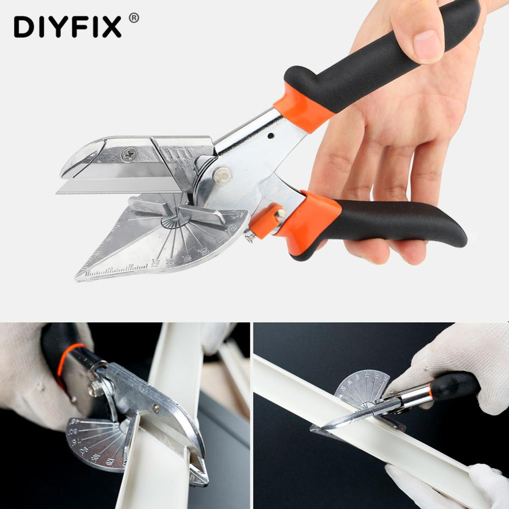 45 To 90 Degree Edge Angle Shear Scissors Miter Wire Slot Cutter Hand Shear Multifunctional PVC PE Plastic Pipe Plumbing Tool