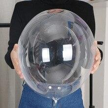 50pcs 18 pollici Trasparente IN PVC Trasparente Bobo Palloncini Festa di Compleanno Decorazioni di Nozze Per Adulti Per Bambini Fai Da Te Pallone Ad Elio Gonfiabile